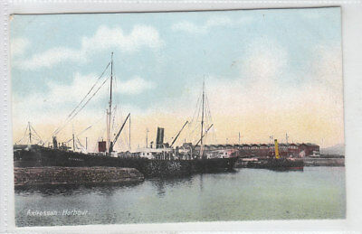 Ardrossan Harbour Rothesay Steamer Ayrshire Pre 1918 Old Postcard Unposted