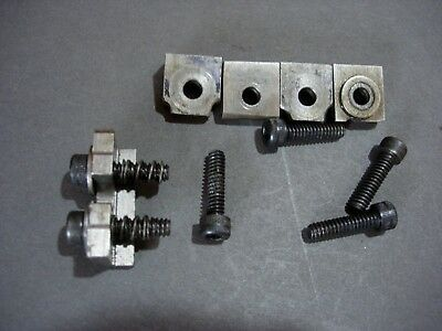 Collection of used hold down milling machine clamps fits Sherline CNC
