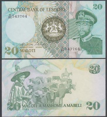 (19)84 Central Bank of Lesotho 20 Maloti (Unc)