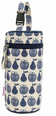 Pink Lining BOTTLE HOLDER APPLES & PEARS BLUE Baby Feeding Travel BN