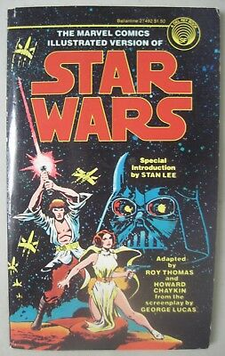 The Marvel Comics Illustrated Version Of Star Wars 1977 Ballantine Paperback Lee