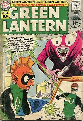 Green Lantern # 6 - First Appearance Of Tomar-Re - Key Character - Gil Kane Art
