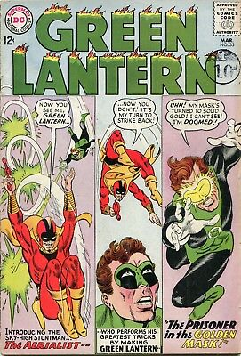 Green Lantern # 35 - First Appearance Of The Aerialist - Gil Kane Art