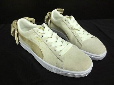 76ed1db947e4 New PUMA Suede Bow Varsity Sneaker Shoes - Marshmallow 367732-03