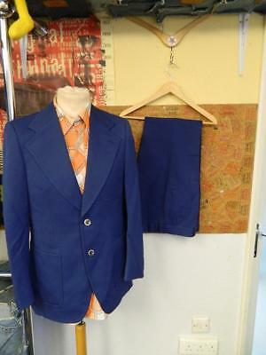 Vintage 1970's Fisser Full Navy Suit Jacket and Trousers
