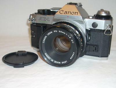 Canon AE-1 Program SLR 35mm Film Camera w/50mm FD f/1.8 Lens Excellent Working