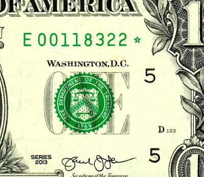 **STAR** $1 2013 :00118322* : Federal Reserve Note ** MORE CURRENCY FOR SALE