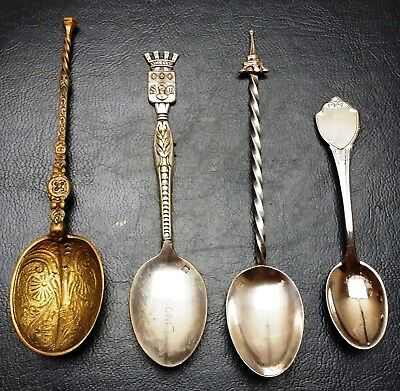 Vintage Lot of 4x Collectible Spoons - Beautiful Antique Pieces