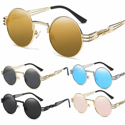 efe6a943e025 2019 Round Classic Luxury Sunglasses Circle Steampunk Hip Hop Vtg Migos  Quavo US