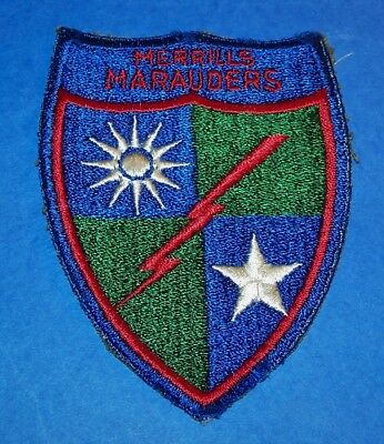 ORIGINAL CUT-EDGE WW2 5307th COMPOSITE UNIT MERRILL'S MARAUDERS PATCH!