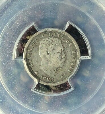 1883 Hawaii 10 Cents Silver Coin PCGS VF20