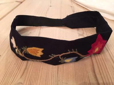 Authentic NORWEGIAN Rogaland Bunad Hair band Hand embroidered From Norway