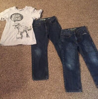 Lot of boys size 6 jeans brand name jeans and bonus shirt