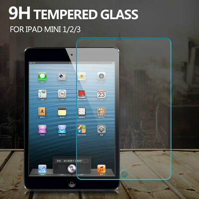 "Real Tempered Glass Screen Protector Film for Apple iPad 2 3 4 Air Pro 9.7"" Mini"