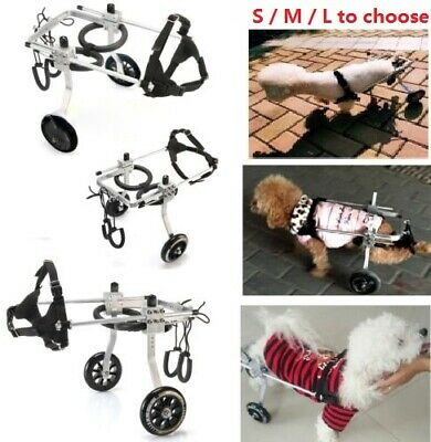 3 Size - Pet Dog Wheelchair For Handicapped Small/Large/Medium Pet Dog/Cat Walk