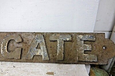 Very Old Cast Iron Railway Sign - This Gate - Very Rare - L@@k