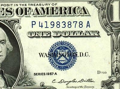 $1 1957A (( CHOICE UNCIRCULATED )) Silver Certificate  MORE CURRENCY FOR AUCTION