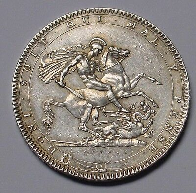 GB 1819 George III silver crown, Extremely Fine.