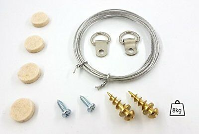 Premium Wire Picture/mirror Hanging Kit - Everything Included - No Drilling Requ