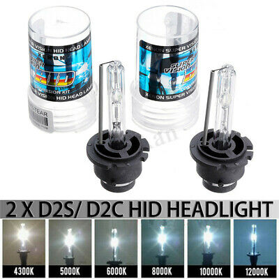 2X 35W D2S/D2C Xenon Car Replacement HID White Headlight Lights Lamps Bulbs  !