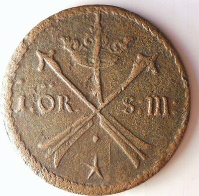 1677 SWEDEN ORE - Very Rare Type - High Grade - HUGE COPPER TYPE Coin - Lot #N10