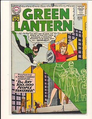 Green Lantern # 7 - 1st Sinestro VG Cond. slight water damage
