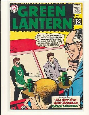 Green Lantern # 17 G/VG Cond. subscription crease