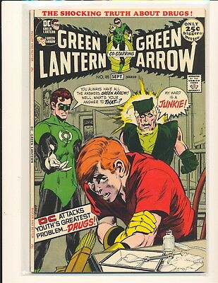 Green Lantern # 85 - Anti-drug issue Neal Adams cover & art Fine/VF Cond.