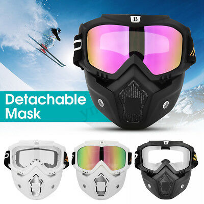 NEW Motorcycle Full Face Mask Anti Fog Goggles Shield Helmet Eyewear For
