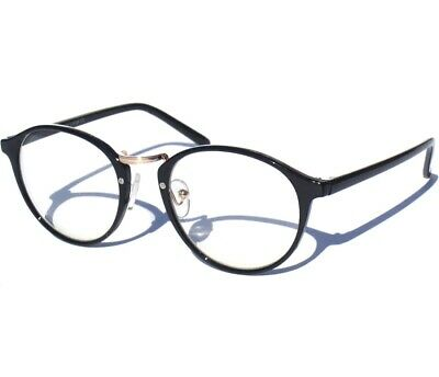 00c9363630 Retro Vintage Inspired Clear Lens Glasses Hipster Nerd Black w Metal Bridge  New