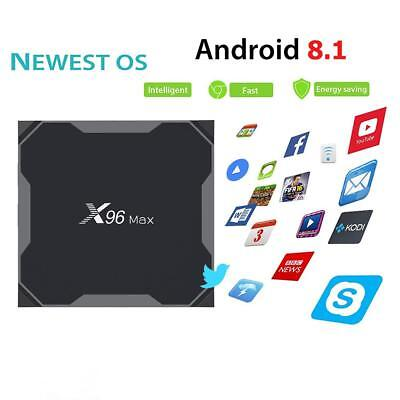 X96Max Smart TV Box Android 8.1 S905X2 Quad Core WiFi BT H.265 4K Media Player