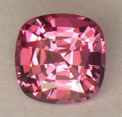 FLAWLESS CLARITY GORGEOUS PINK 6.7 x 6.7mm ANTIQUE CUSHION CUT SRI LANKAN SPINEL