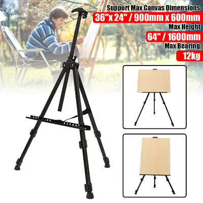 Telescopic Folding Artist Field Studio Painting Easel Tripod Display Stand USA