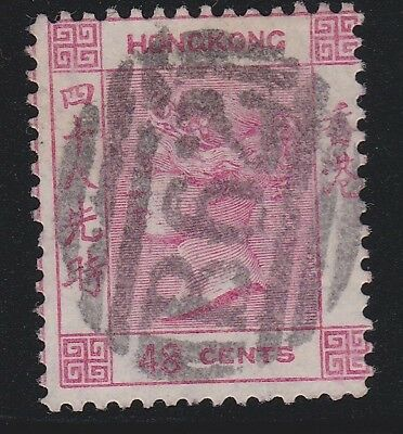 HONG KONG 1863-71 48c pale rose-fu