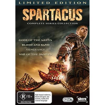 Spartacus Complete Series 1, 2, 3 & 4 DVD Box Set Limited Edition R4 New Sealed