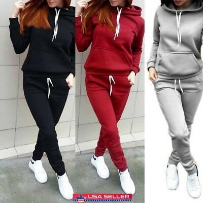 Women Slim Fit Jogging Tracksuit Sports Gym Sweat Suit Athletic Apparel Outfits