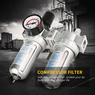 Air Compressor Water Filter With Regulator Water Trap G1/2 Air Tool Cleaning Hot