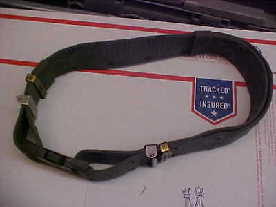 """OBO Military USN Army Sea Cadet FTX other 2"""" Web Belt Green 1 size fits all #N88"""