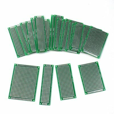 20Pcs 4 Different Size Double-Side Prototype PCB Panel Universal Circuit Board