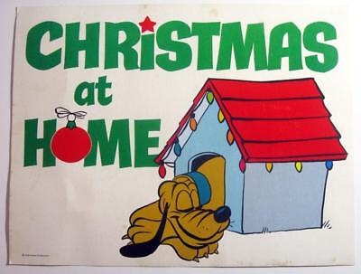 Disney PLUTO ~ Christmas at Home Sign