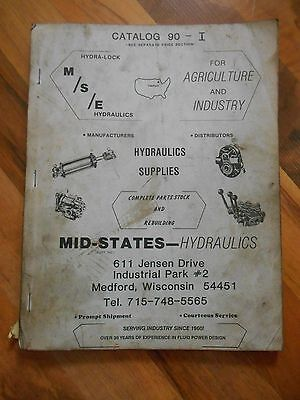 MSE Mid-States Hydraulics Catalog 90 Agriculture Industry Farm Parts Stock Rebui