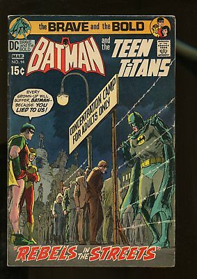 Brave And The Bold #94 Very Good / Fine 5.0 Batman / Teen Titans 1971 Dc Comics