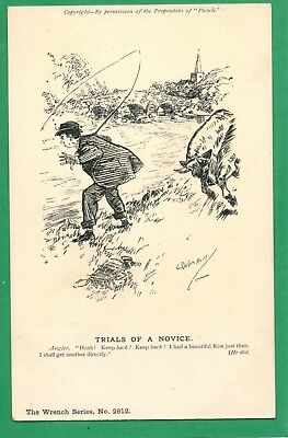 Trials Of A Novice * Man Fishing * Wrench Punch Comic Series * Vintage *e151