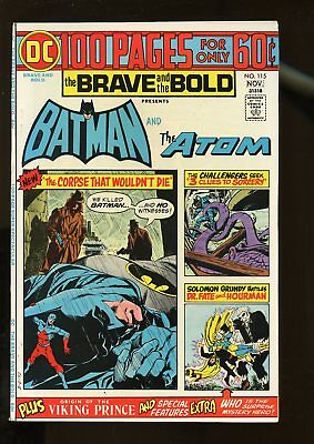 Brave And The Bold #115 Very Fine 8.0 Batman / Atom / 100 Pages 1974 Dc Comics