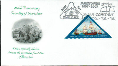 2007 - Engraved Cachet - Jamestown Colony 400th Anniversary - 1607-2007