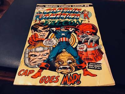 Marvel Comics--Captain America And The Falcon-Cap Goes Mad-No 162-June 1973