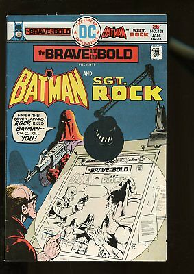 Brave And The Bold #124 Fine+ 6.5 Batman / Sgt. Rock 1976 Dc Comics