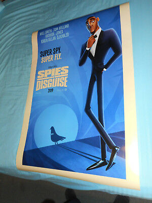 "Will Smith SPIES IN DISGUISE orig movie poster one sheet DS 27""x40"""