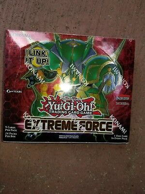 Yugioh EXTREME FORCE 1ST EDITION FACTORY SEALED BOOSTER BOX ENGLISH