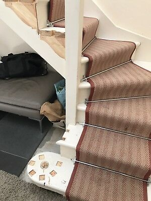 CHROME COVERED SOLID BRASS CARPET RUNNER STAIR RODS 15 + 1 SPARE £40-£60 each